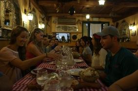 Food and friends (Photo: Nick Boffardi)